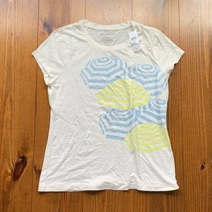 NWT Ann Taylor short sleeve tee: umbrella graphic